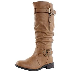 West Blvd Madras Riding Slouch Boots NEW Tan